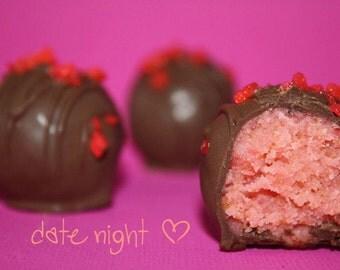 Chocolate Covered Strawberry Cake Truffles