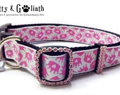 Queen of Hearts Large Dog Collar -- Free Charm