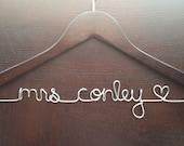 Personalized Wedding Dress Hanger, Name Hanger, Engagement Gift, Bridal Hanger, Custom Hanger,  SALE Wedding Dress Hanger, Wedding Hanger