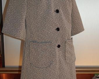 Black and White Check Boxy 60's Dress/Tunic