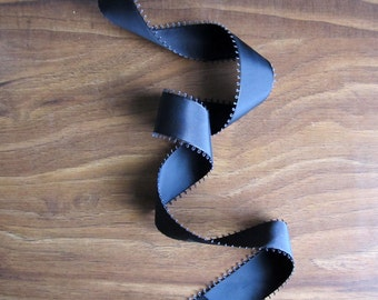Oh So Picot - Picot ribbon - Black wide set picot ribbon