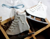 Ice Skate Decorated Gingerbread Cookies