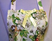 Girls Apron Flower FAIRY, with GLITTER Fairy Dust, Fit for a Princess, Pretty Party Kitchen Gift