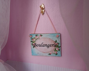 "Framed picture. Sign for shop. ""Boulangerie"". 1/12th scale"