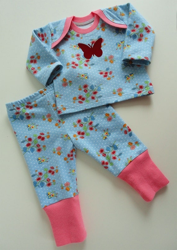 Premature clothes Preemie Baby set Girls shirt pants 44cm 4 5