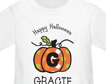 Halloween Shirt / Pumpkin Shirt - Pumpkin Personalized Halloween Shirt or Halloween Bodysuit