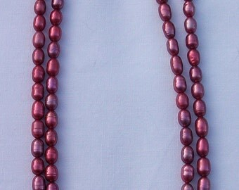 Two Stranded Pink Pearl Necklace