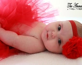 Red Flower Headband - baby headband, infant headband, newborn headband, adult headband, valentines headband