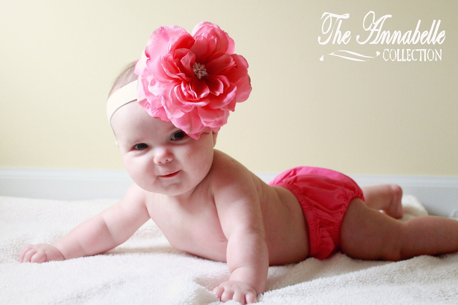 baby flower headband infant flower by AnnabelleCollection on Etsy