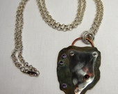 Sand Trap - Sterling, Copper, Garnet and Amethyst Necklace