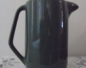 BAUER Pottery Pitcher Vintage Green 8 Inch
