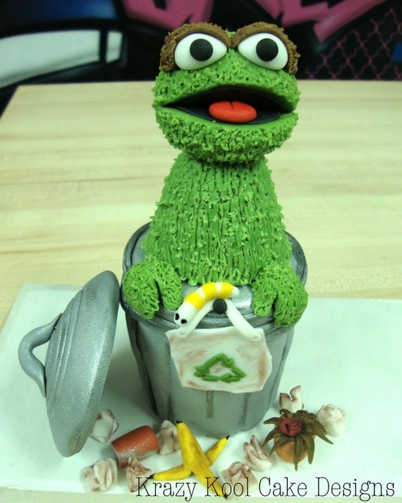 Oscar The Grouch Cake Topper