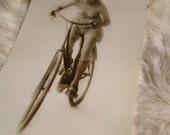 MATURE... Topless Bike Rider... 4 x 6 Print