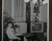 T.V. Party. . . 1960s Vintage Snapshot