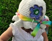 Crochet Pattern PDF - Sunhat - Beloved Flower Sunhat - Infant to Adult Sizes