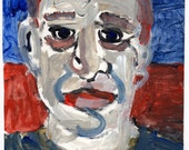 Left Over Face - Original Painting by Peter Mack