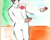 Ringo Dancing 1 - Original Drawing by Peter Mack