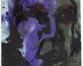 Purple/Green Head - Original Painting by Peter Mack
