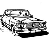 1962 Valiant / Classic Car / Limited Edition Art Print / Gifts for Him