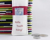 Tooth Fairy Pillow - Boy or Girl - Dr SEUSS Inspired - Stocking Stuffer - Birthday Party Favor - Birthday Gift - Hello Tooth Fairy RED