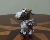 Zuni Style Bead Weaved Cow - Dairy Queen