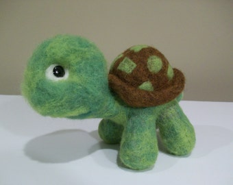Turtle - Tortoise,   Wool Needle Felted