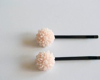 Chrysanthemum Bobby Pin Clips- Set of 2