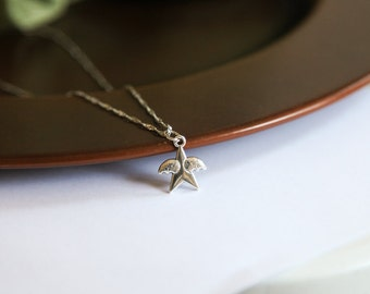 Angel Star Necklace with Wings- Mario Star Jewelry - Unique Fun Gifts for Him - For Her - Twinkle Twinkle Little Star