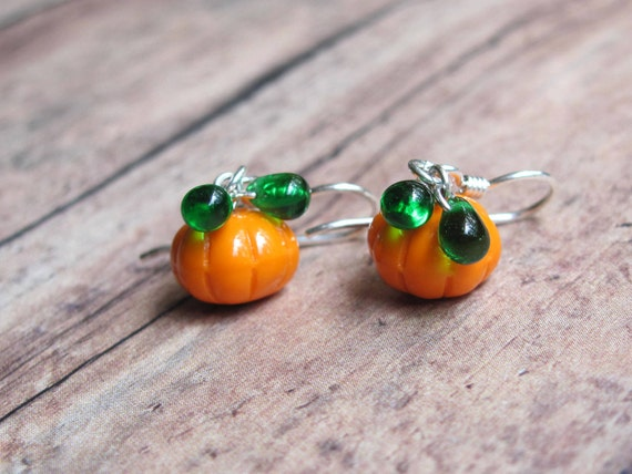 orange pumpkin earrings pumpkin earrings earrings