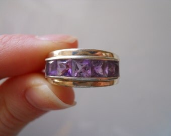 Sterling Silver and Amethyst Band