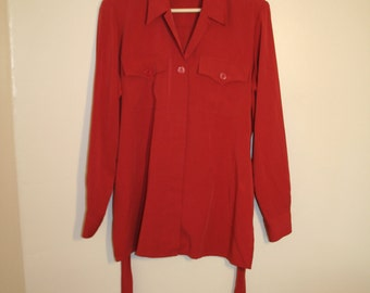 1980's Red Shirt with Tie Back