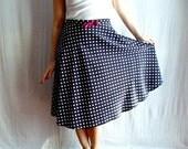 Blue polka dot skirt - circle skirt 50s inspired skirt womens clothes