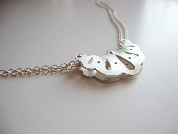 On Sale! - Silver Necklace - Unique Artisan Jewelry - One of a Kind Art Silver Layered Necklace