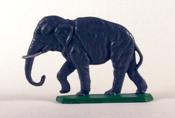 Tin Elephant Toy, 1950s metal figure