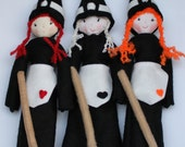 Soft doll '' WITCH BETTY '', ready to ship, handmade  halloween  doll, witch doll