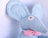 Simmm Handmade Big, Blue, Dotted  Mouse,Wearing a Bow tie