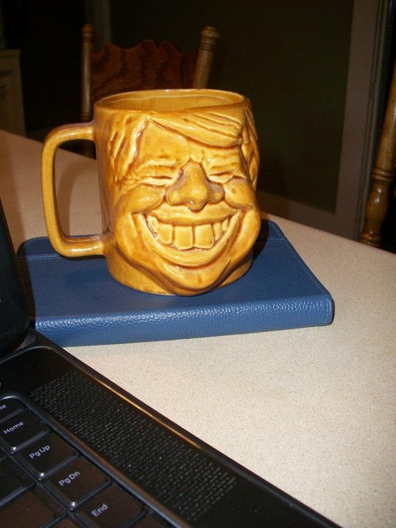 Vintage Gold Jimmy Carter Face Presidency Mug