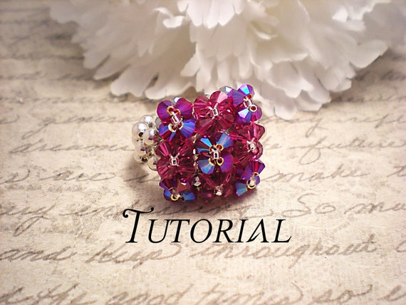 Right Angle Crystal : Tutorial pdf right angle weave swarovski crystal pillow top