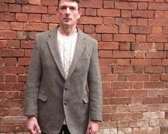 Vintage Harris Tweed Mens Jacket size L