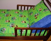 Toy Story Baby Toddler fitted Sheet with woody and Buzz and standard Pillowcase