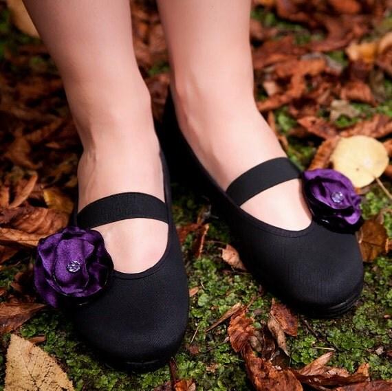 violet elegance /ballet flats shoes jarmilki wedding woman bride poletsy fashion gift romantic spring summer comfortable brooch under 25