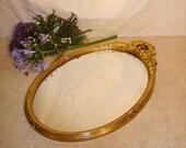 Mirror / Ornate Detailing / Golden Leaf work / Vintage