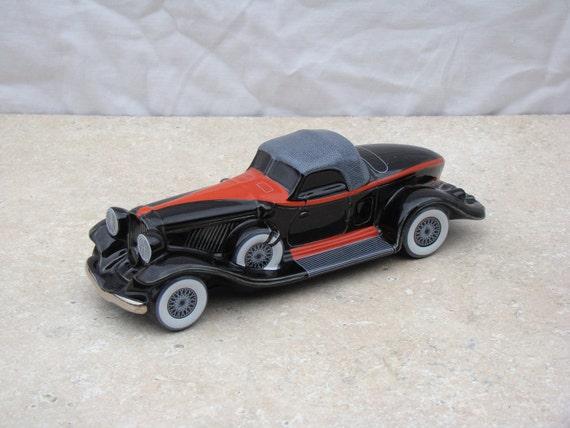 Avon Car / 1932 Auburn Boatail Speedster / Ceramic Car / Rare / Collectible