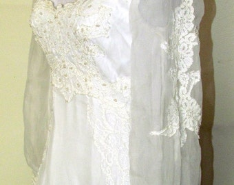 On Sale-Gorgeous EDWARDIAN  RENAISSANCE  Vintage WEDDING Gown