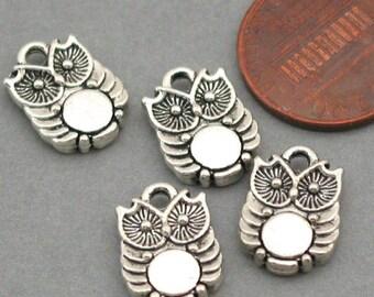 Owl Charms Antique Silver 8pcs pendant beads 10X14mm CM0021S