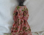 1800s Antique African American Doll / Wax over Porcelain with Cloth Body
