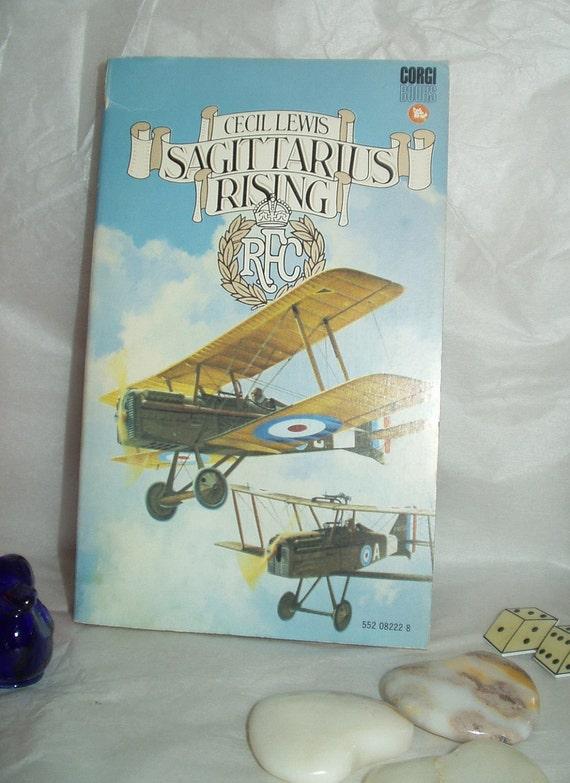 Sagittarius Rising book biography of Cecil Lewis biplane pilot blue Corgi paperback