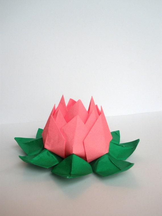 origami fleur de lotus. Black Bedroom Furniture Sets. Home Design Ideas
