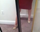 Highwaisted Mad Men Red Skirt Size 4