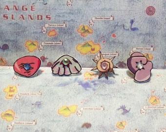 Orange Island Badges - Pokemon Cosplay